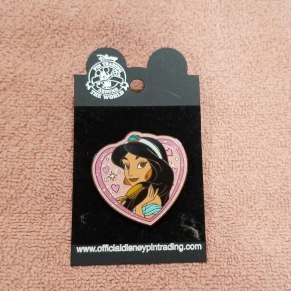 Disney Other Princess Jasmine Heartshaped Pin Poshmark